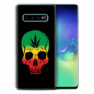 rasta skull gel case