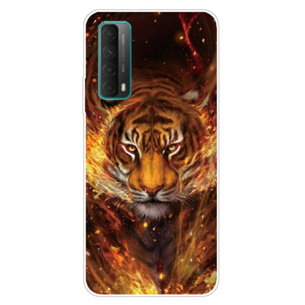 flame tiger phone case