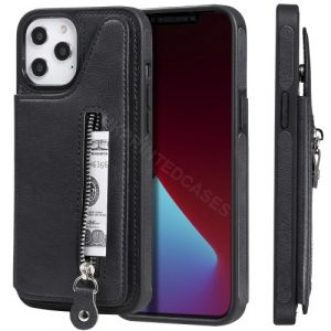 Zip Pu Leather Wallet Case Cover For iPhone
