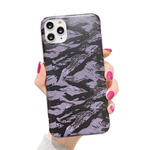 Camouflage Striped Phone Case For iPhone