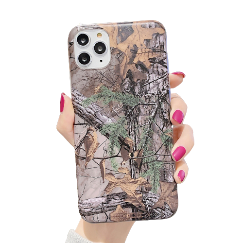 Camouflage Fallen Leaves Phone Case For iPhone