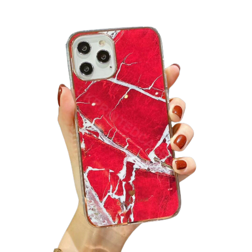 Cracked Marble Effect Phone Case For iPhone