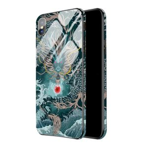Colourful Dragon Hard Phone Case For iPhone