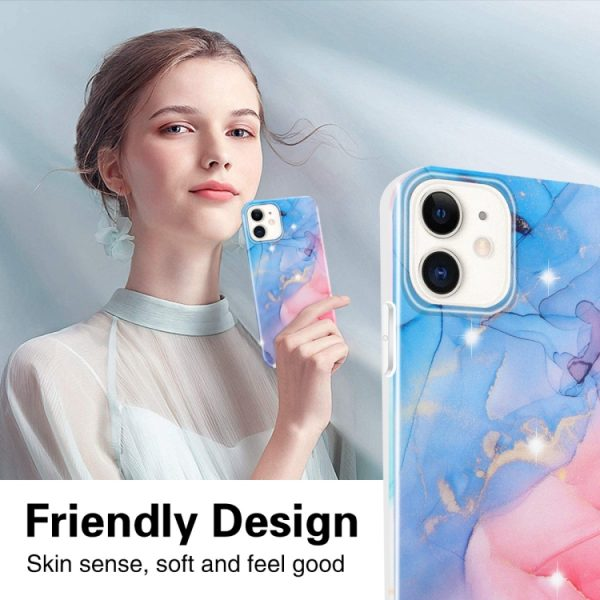 Marble Frosted Watercolour Phone Case For iPhone