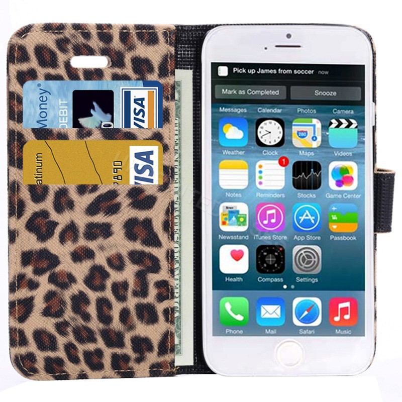 Leopard Animal Print Wallet Case For iPhone