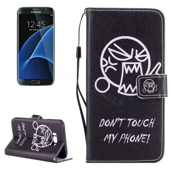 Angry Emoji Don't Touch My Phone Wallet Case