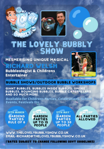 The Lovely Bubbly Show flyer